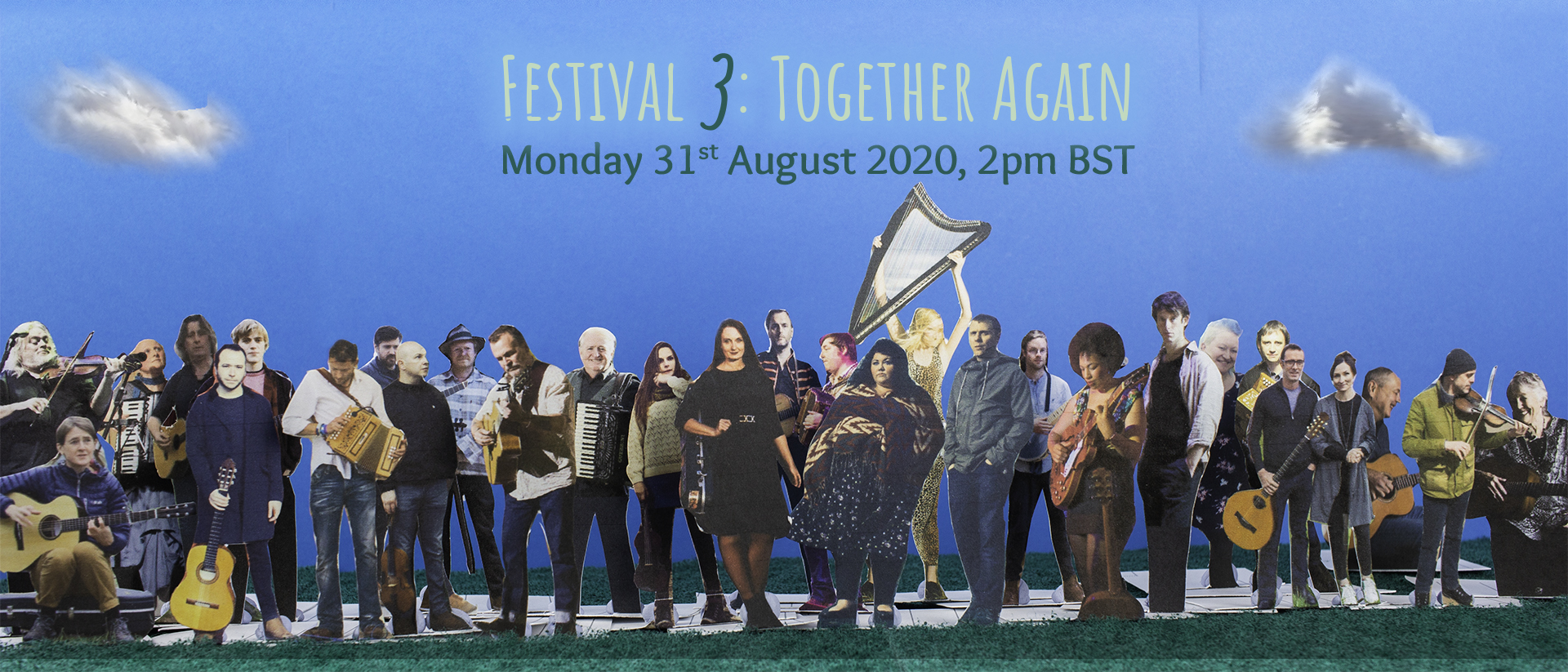 "40 Top Folk Musicians ""TOGETHER AGAIN"" for Folk On Foot 3"
