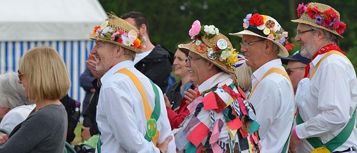 morris at the gate to southwell festival