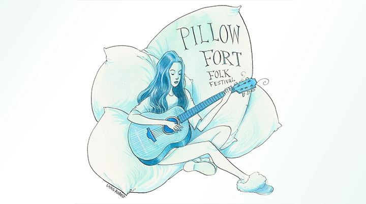 Folkroom's stay-at-home Pillow Fort Folk Festival Streaming live this Saturday